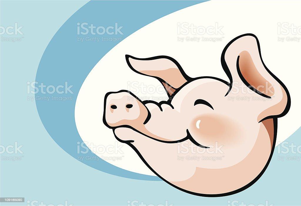 Smiling pig royalty-free stock vector art