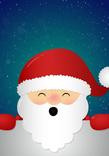 royalty free background of the santa face template clip art vector