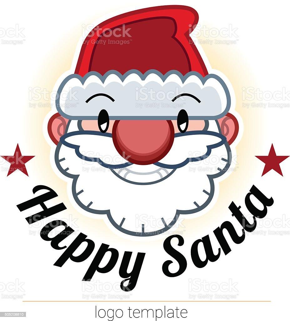 Smiling Santa Head Logo Template Stock Vector Art & More Images of ...