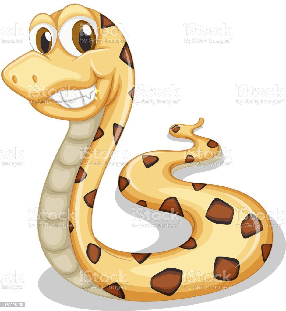 smiling snake royalty-free stock vector art