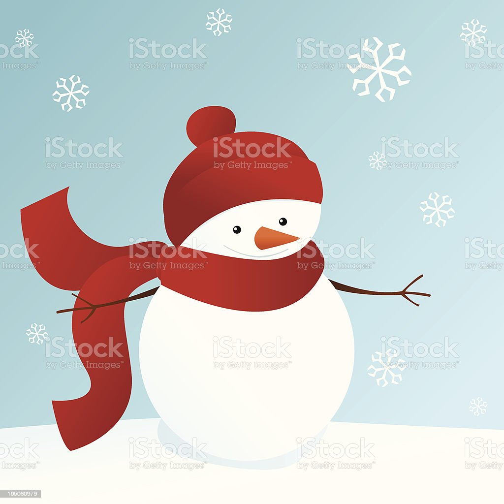 Smiling Snowman royalty-free stock vector art