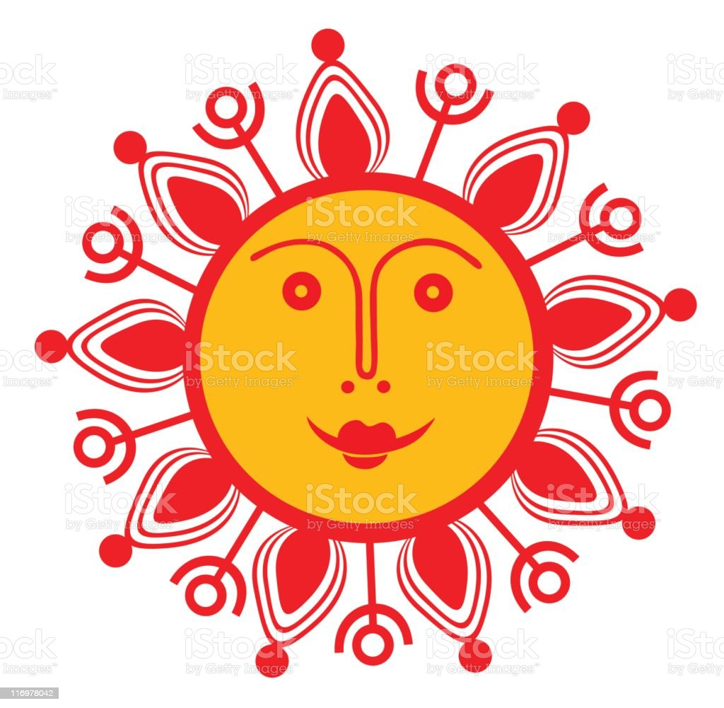 smiling sun royalty-free stock vector art