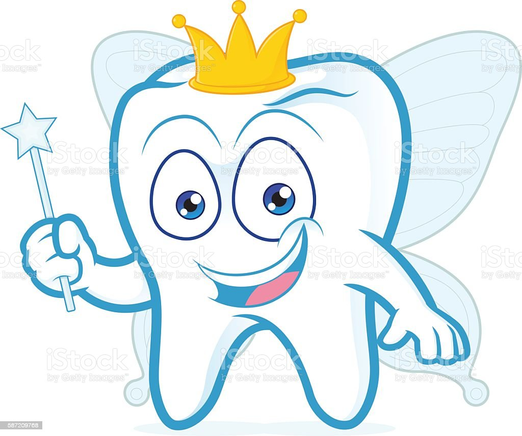 smiling tooth fairy stock vector art 587209768 istock