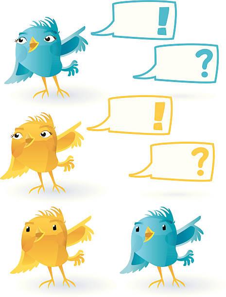 smiling twitter bird (with speechballoon). - twitter 幅插畫檔、美工圖案、卡通及圖標