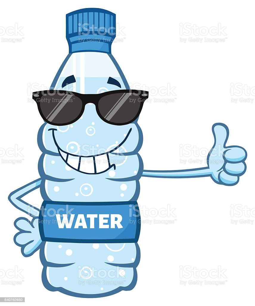 Water Bottle Graphic: Smiling Water Bottle Giving A Thumb Up Stock Vector Art