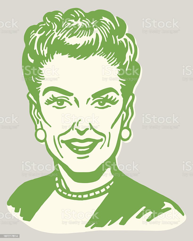 Smiling Woman royalty-free smiling woman stock vector art & more images of adult