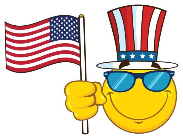 American Flag Emoji Illustrations, Royalty-Free Vector Graphics