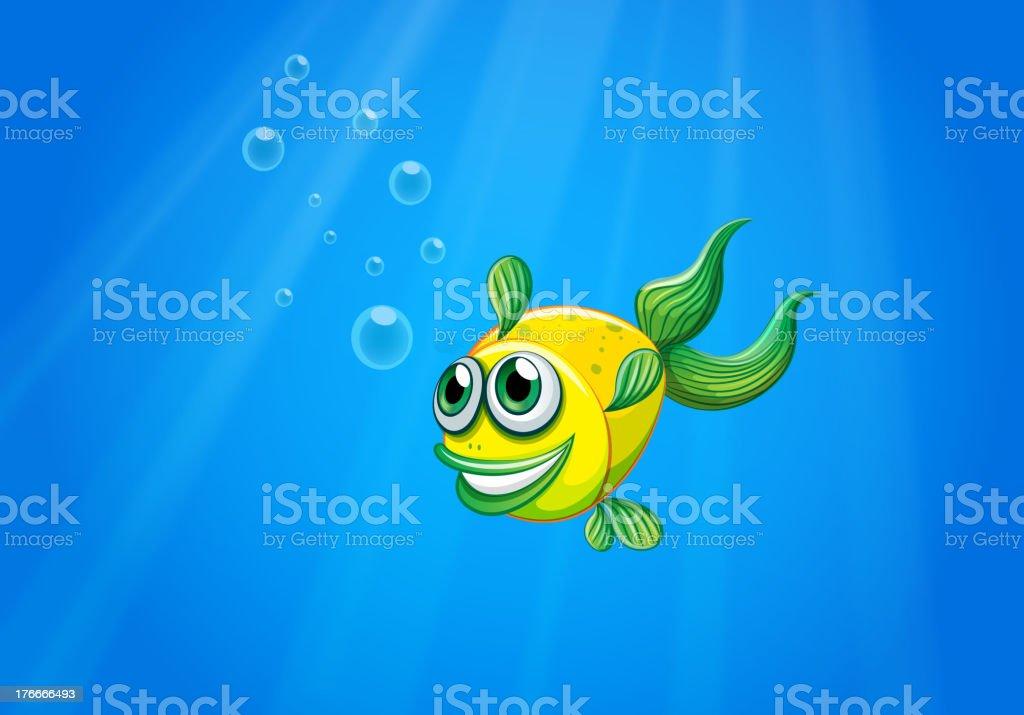 Sonriente submarino amarillo de peces ilustración de sonriente submarino amarillo de peces y más banco de imágenes de ilustración libre de derechos