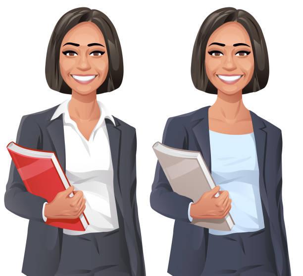 ilustrações de stock, clip art, desenhos animados e ícones de smiling young businesswoman - portrait of confident business