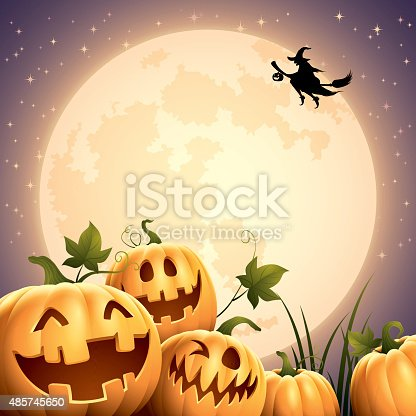 istock Smilly Pumpkins - Big Moon 485745650