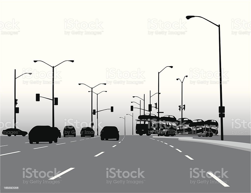 Smog Vector Silhouette royalty-free stock vector art