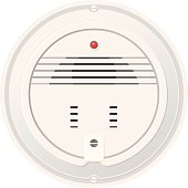 A vector illustration of a modern smoke alarm and detector.