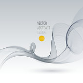 Vector Smoke. Abstract template Fractal background. EPS 10