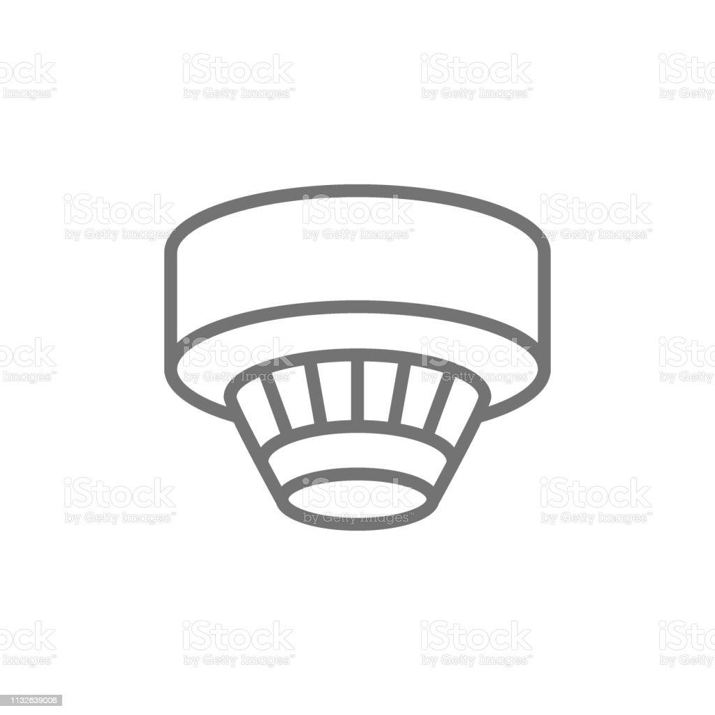 Smoke Detector Alarm System Line Icon Stock Illustration Download Image Now Istock
