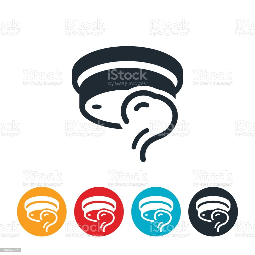 Smoke Detector Icon vector art illustration