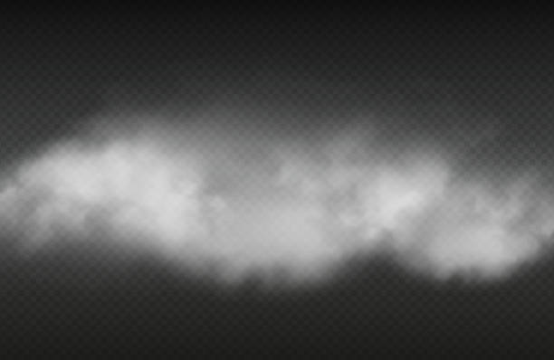 Smoke effect. Vector realistic smoke or for isolated on transparent background Smoke effect. Vector realistic smoke or for isolated on transparent background. Illustration cloud smoke transparent, steam cigarette or cigar smog stock illustrations