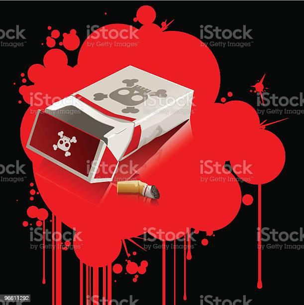 Дым Убивает Вектор — стоковая векторная графика и другие изображения на тему Без людей