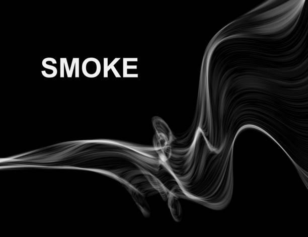 Smoke on black vector background. vector art illustration