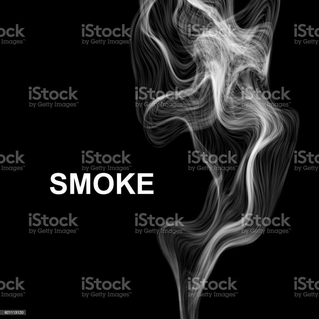 Smoke on black. Vector background. vector art illustration