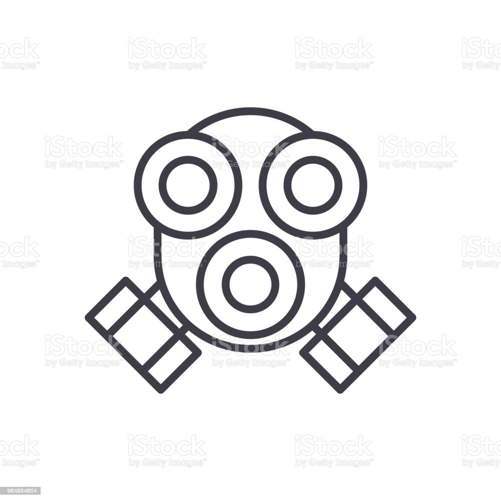 Fumar en el concepto de icono negro de protección. De humo protección plana vector símbolo, signo, Ilustración. - ilustración de arte vectorial