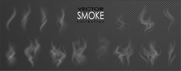 smoke vector collection. - smoke stock illustrations