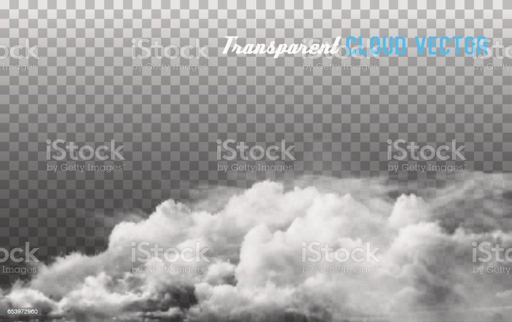 Smoke vector on transparent background. vector art illustration
