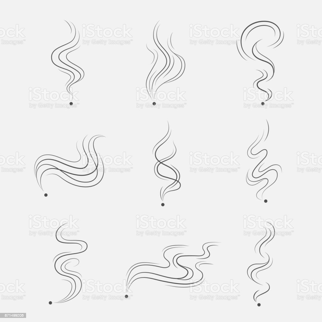 Smoke vector set vector art illustration