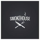 smokehouse cooking logo design background 10 eps