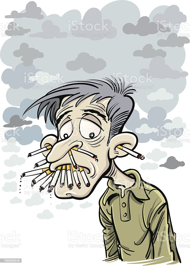 Smoker royalty-free stock vector art