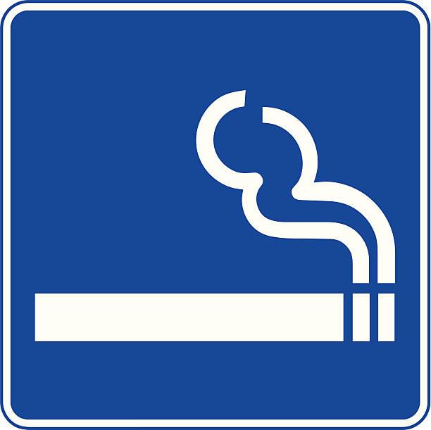 Smoking area sign vector art illustration