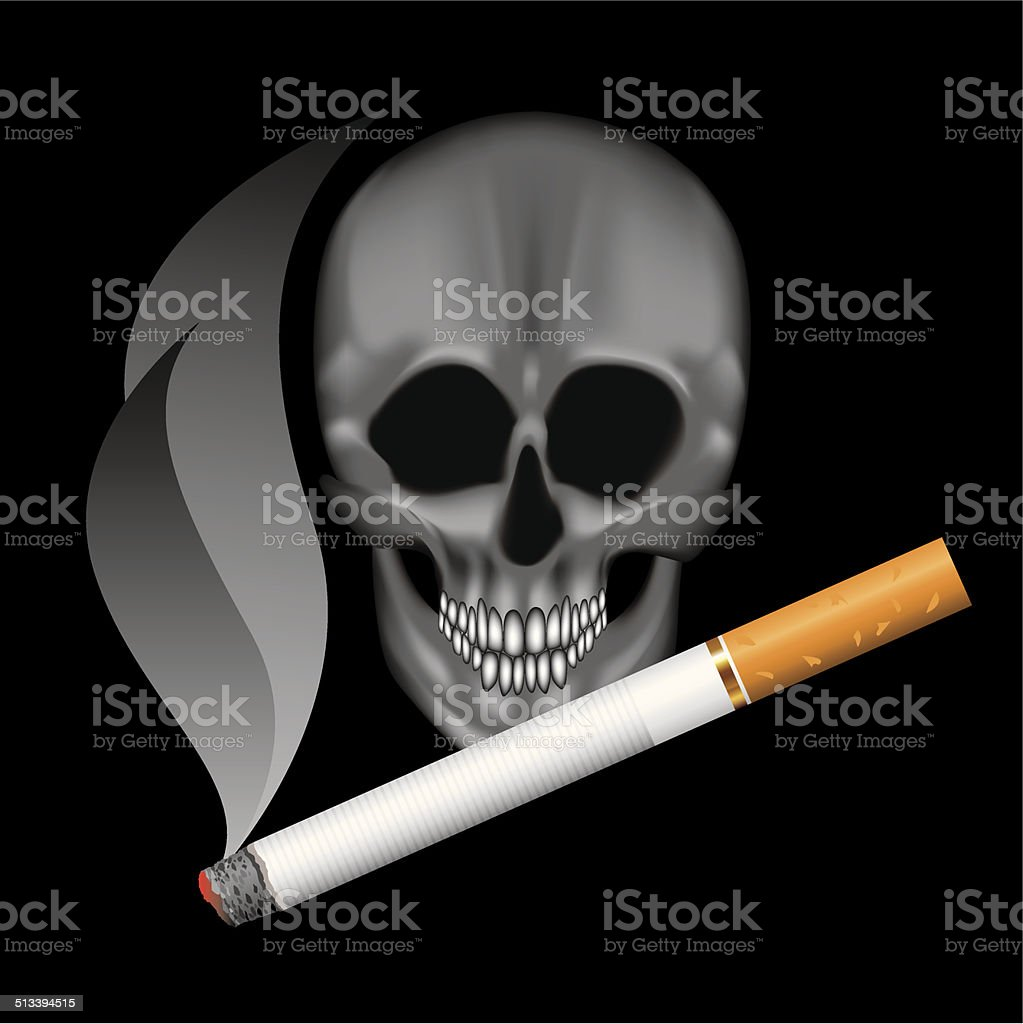 Smoking cigarettes vector art illustration