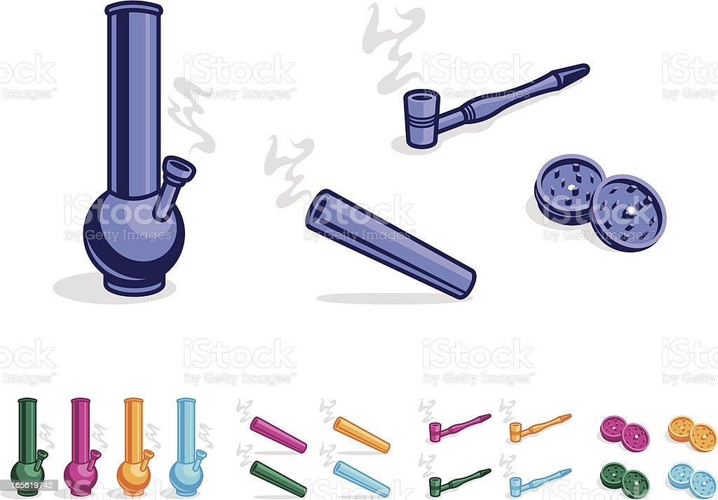 Smoking equipment vector art illustration