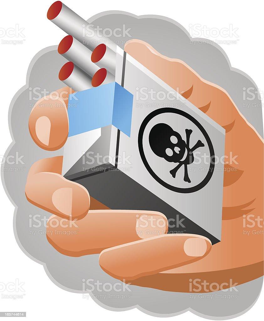 Smoking Hazard royalty-free stock vector art