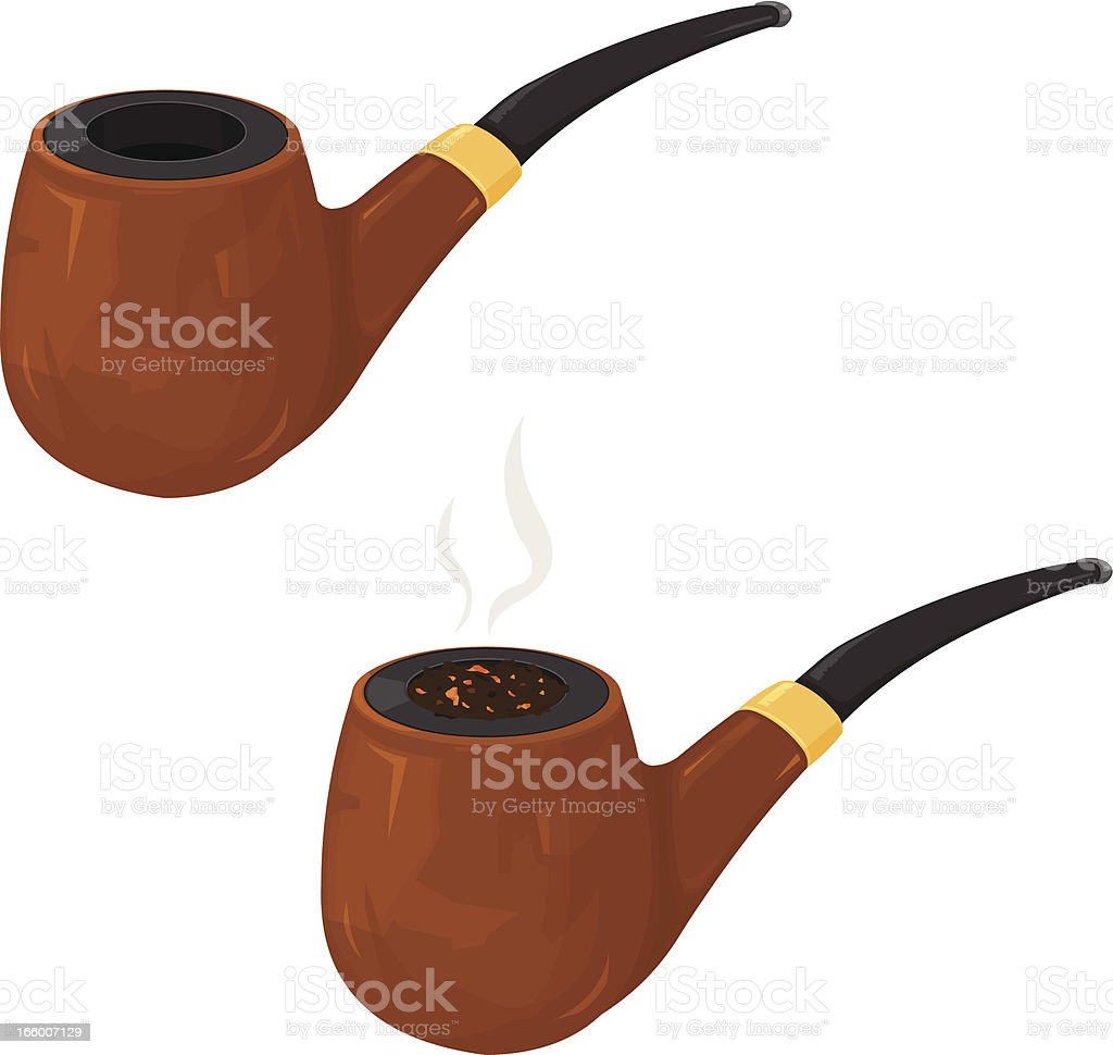 Smoking Pipe Stock Vector Art More Images Of Burning 166007129