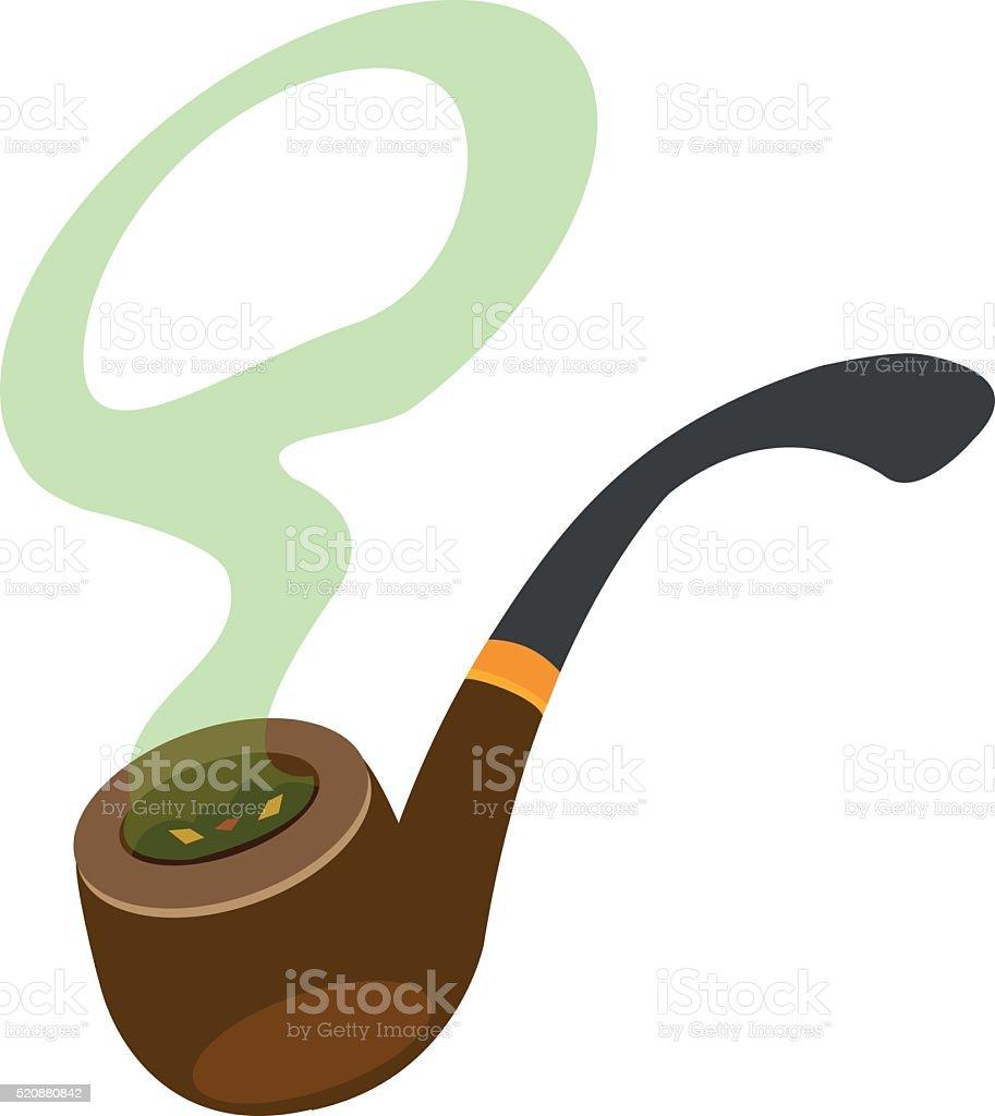 Ilustración de Tubo Para Fumadores Con El Logotipo De Humo Del ...