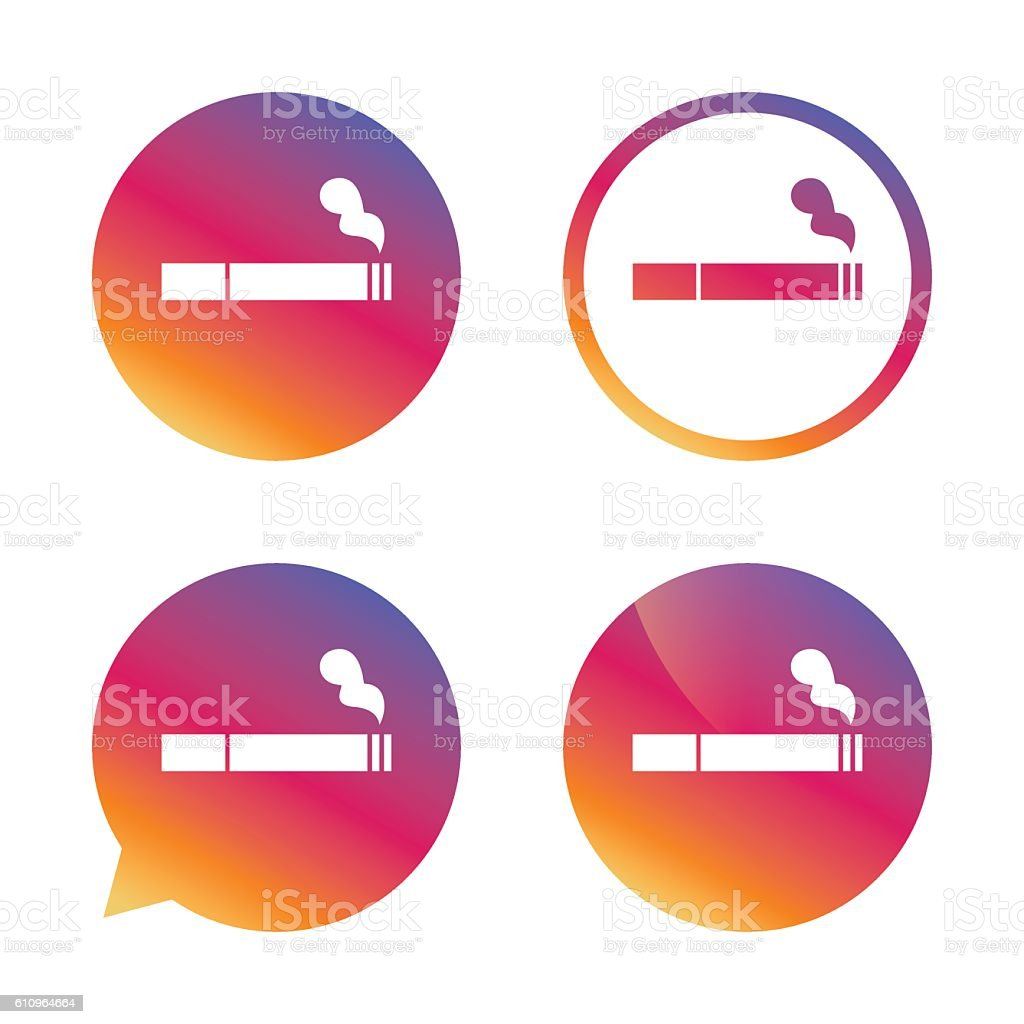 smoking sign icon cigarette symbol stock vector art more images of