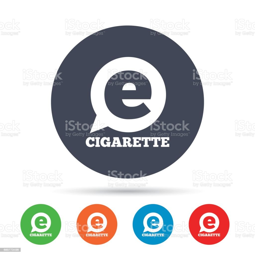 Smoking sign icon. E-Cigarette symbol. royalty-free smoking sign icon ecigarette symbol stock vector art & more images of art