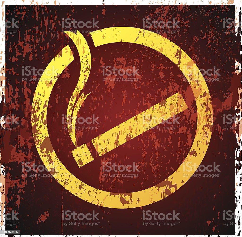 Smoking sign royalty-free stock vector art