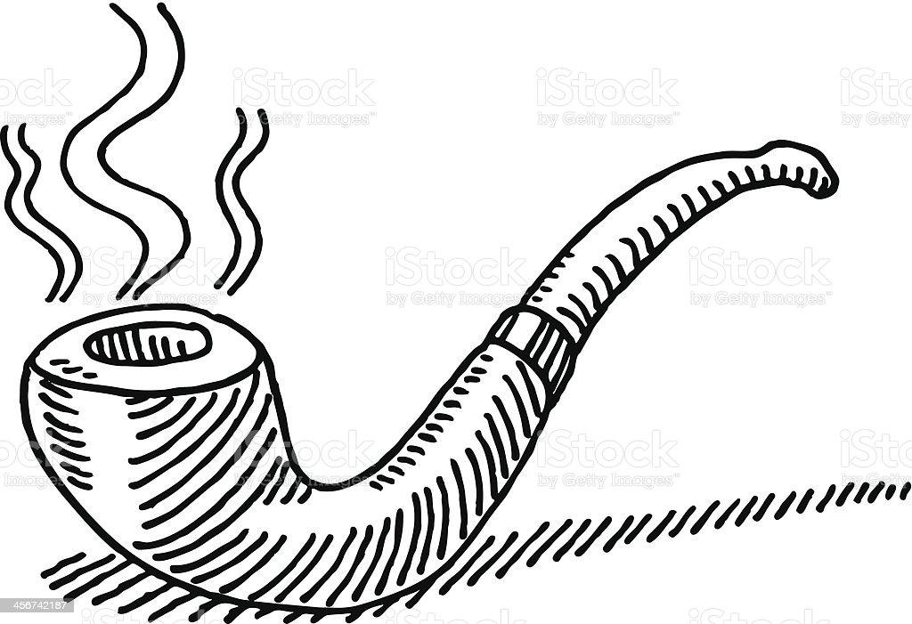 Ilustración de Fumar Tabaco Tubo De Dibujo y más banco de imágenes ...