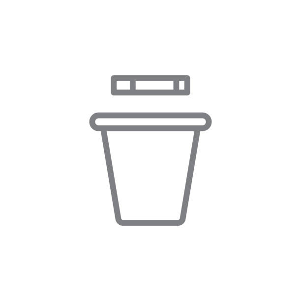 smoking trashcan outline icon. Elements of smoking activities illustration icon. Signs and symbols can be used for web, logo, mobile app, UI, UX smoking trashcan outline icon. Elements of smoking activities illustration icon. Signs and symbols can be used for web, logo, mobile app, UI, UX on white background dumpster fire stock illustrations