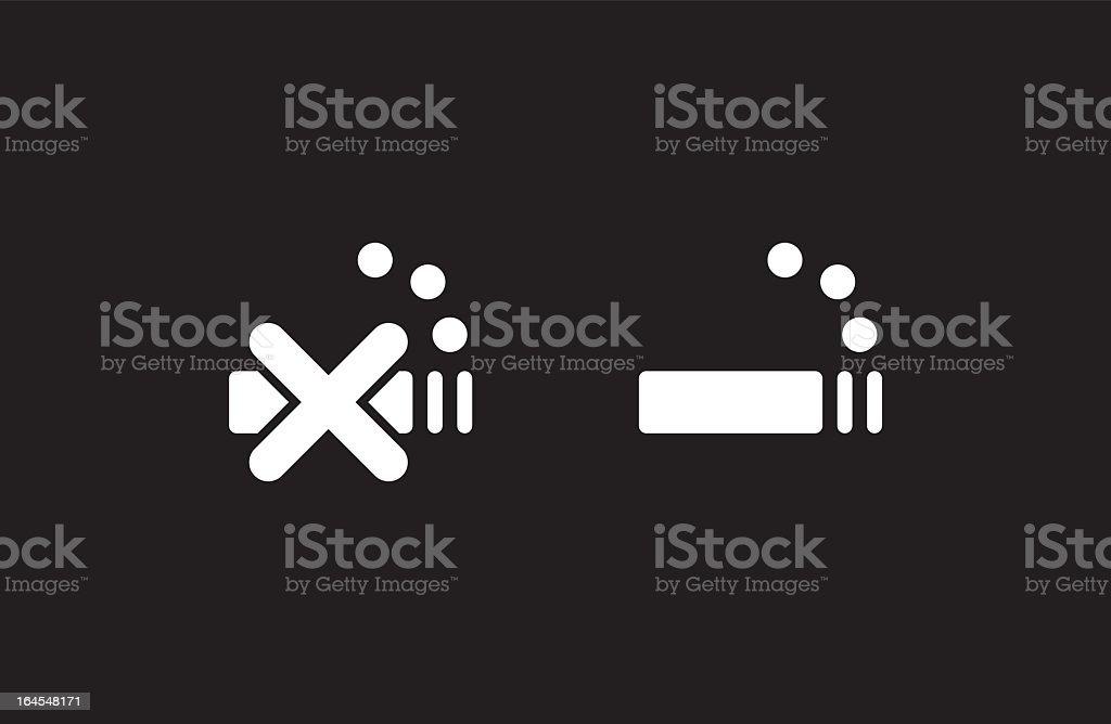 Smoking royalty-free smoking stock vector art & more images of black background