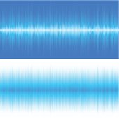 Two horizontal smooth blue backgrounds.  EPS 10 file using transparencies.
