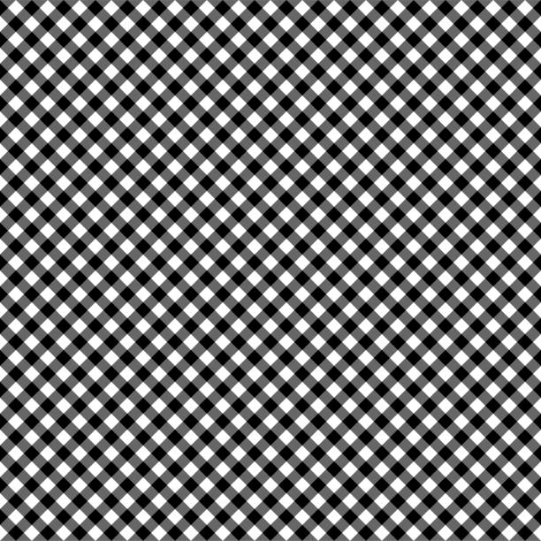 Smooth Diagonal Gingham Seamless Pattern vector art illustration