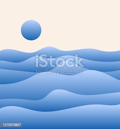 Waves background concept illustration
