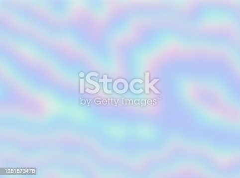 istock Smooth Holographic Abstract Waves Texture Background 1281873478