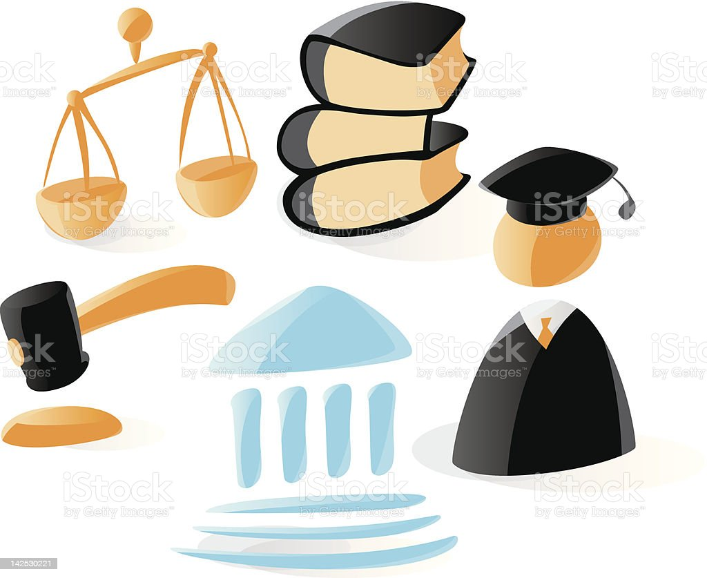 Smooth law icons royalty-free stock vector art