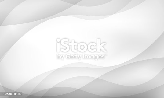 Smooth swoosh gray line background - modern high-tech certificate card. Vector illustration