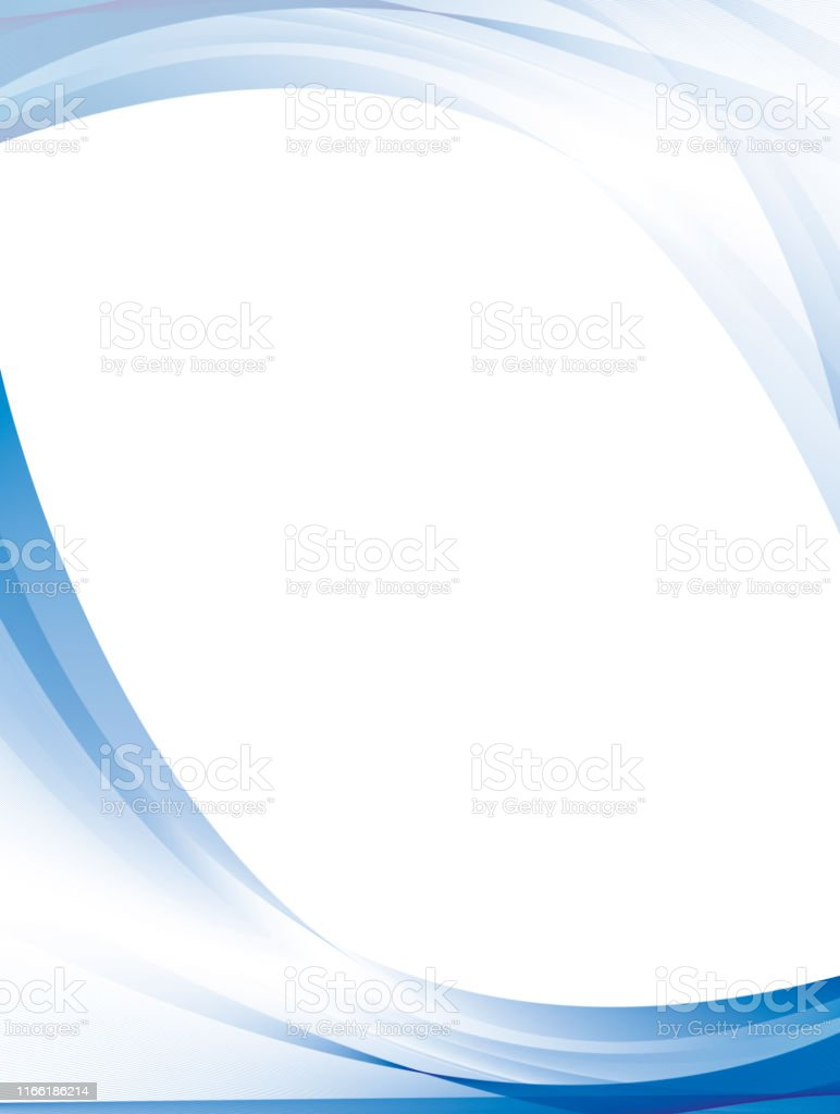 Abstract blue color wave design background