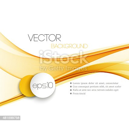 858282944istockphoto Smooth wave stream line abstract header layout. Vector illustration 481599758