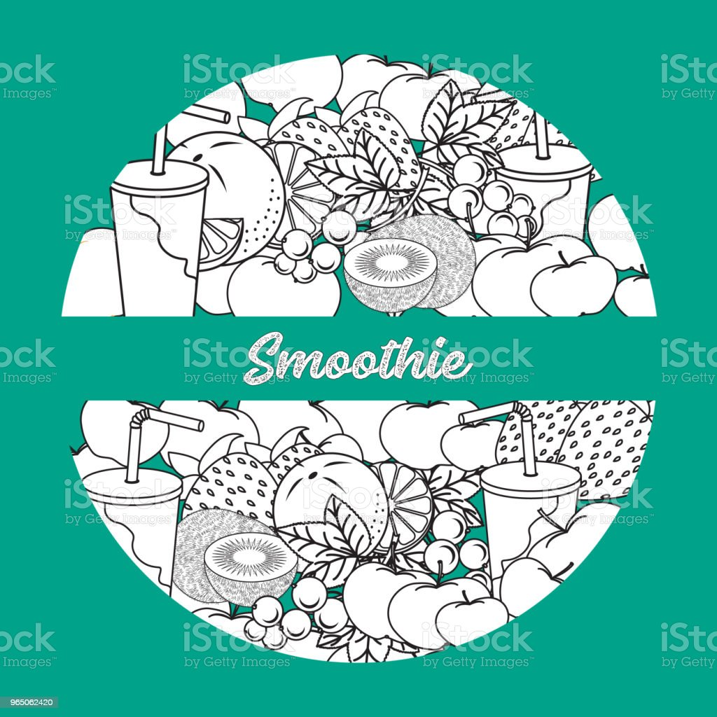 Smoothie and ingredients for making smoothie. royalty-free smoothie and ingredients for making smoothie stock vector art & more images of addiction
